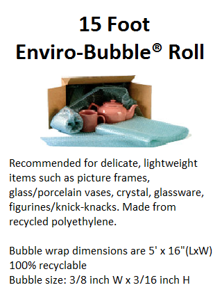 15 Foot Enviro Bubble Roll