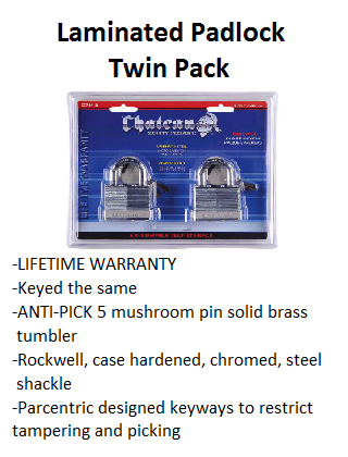 Laminated Padlock Twin Pack