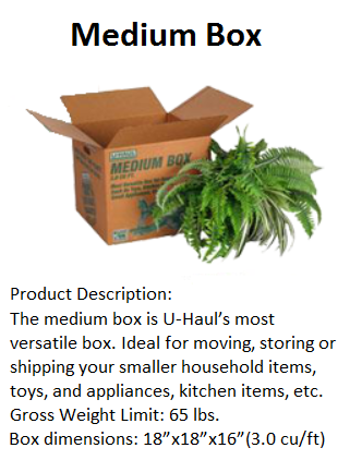 u-haul medium box