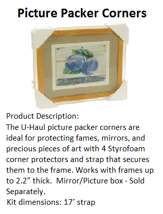 Picture Packing Corners, Framed Items