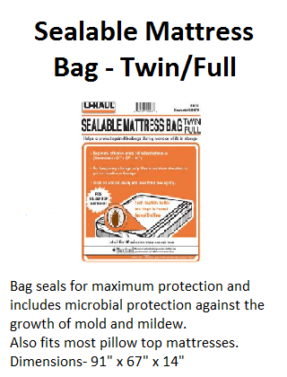SEalable Matress Bag Twin Full