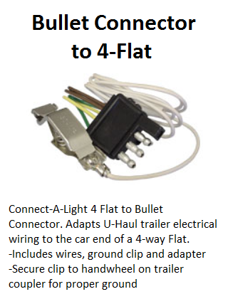 bullet connector to 4 flat