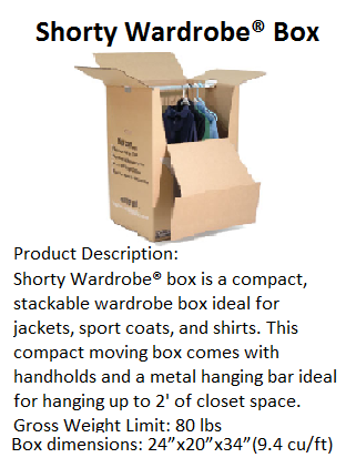 shorty wardrobe 9 14 packing box hanger